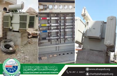 دعم كهرباء حارة مسجد عائشة - منطقة صبر - مديرية تبن - محافظة لحج