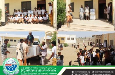 دعم مدرسة القمندان للتعليم الاساسي والثانوي في قرية المنصورة - مديرية تبن - محافظة لحج