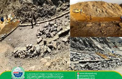 مشروع رصف طريق الصاعة - قرنة - مديرية جحاف - محافظة الضالع