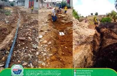 مشروع مياه منطقة الربوة السفلى - مديرية الحبيلين - محافظة لحج