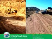 مشروع صيانة وردم طريق مديرية الازارق - محافظة الضالع