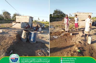 دعم مشروع مياه قرية الكدام - مديرية تبن - محافظة لحج