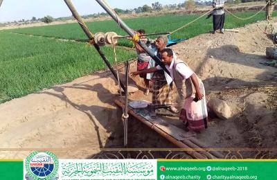 دعم مشروع مياه قرية كود دعيس _ مديرية تبن _ محافظة لحج