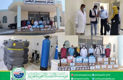 مؤسسة النقيب التنموية الخيرية ترفد مركز غسيل الكلى بمستشفى عبود العسكري بحزمة من المستلزمات طبية والمعقمات.