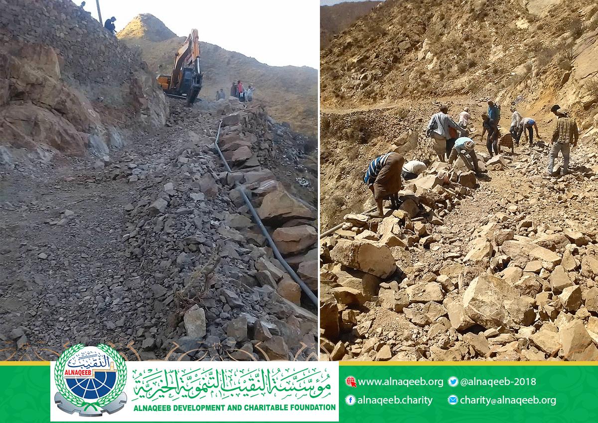 مشروع طريق مناطق درات - الشرف - حبيل الشياب مديرية حالمين - محافظة لحج.