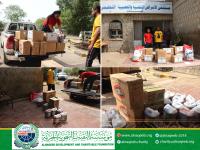 """مؤسسة النقيب التنموية الخيرية ترفد مستشفى الأمراض النفسية م/ عدن- """" بمواد النظافة"""""""
