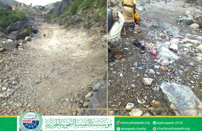 شق طريق منطقة العقبية - جراب - مديرية المسمير - محافظة لحج
